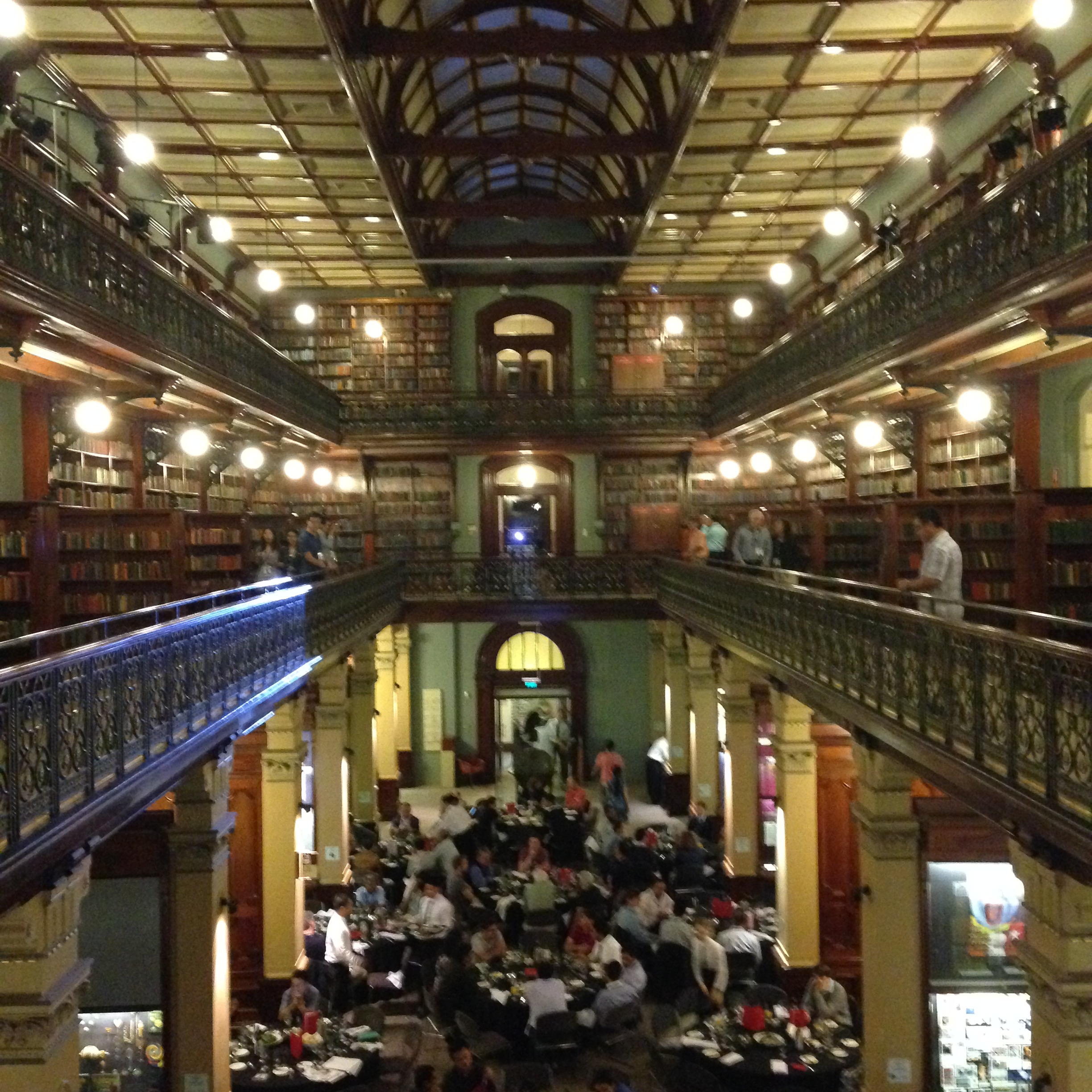 Conference dinner at the State Library of South Australia