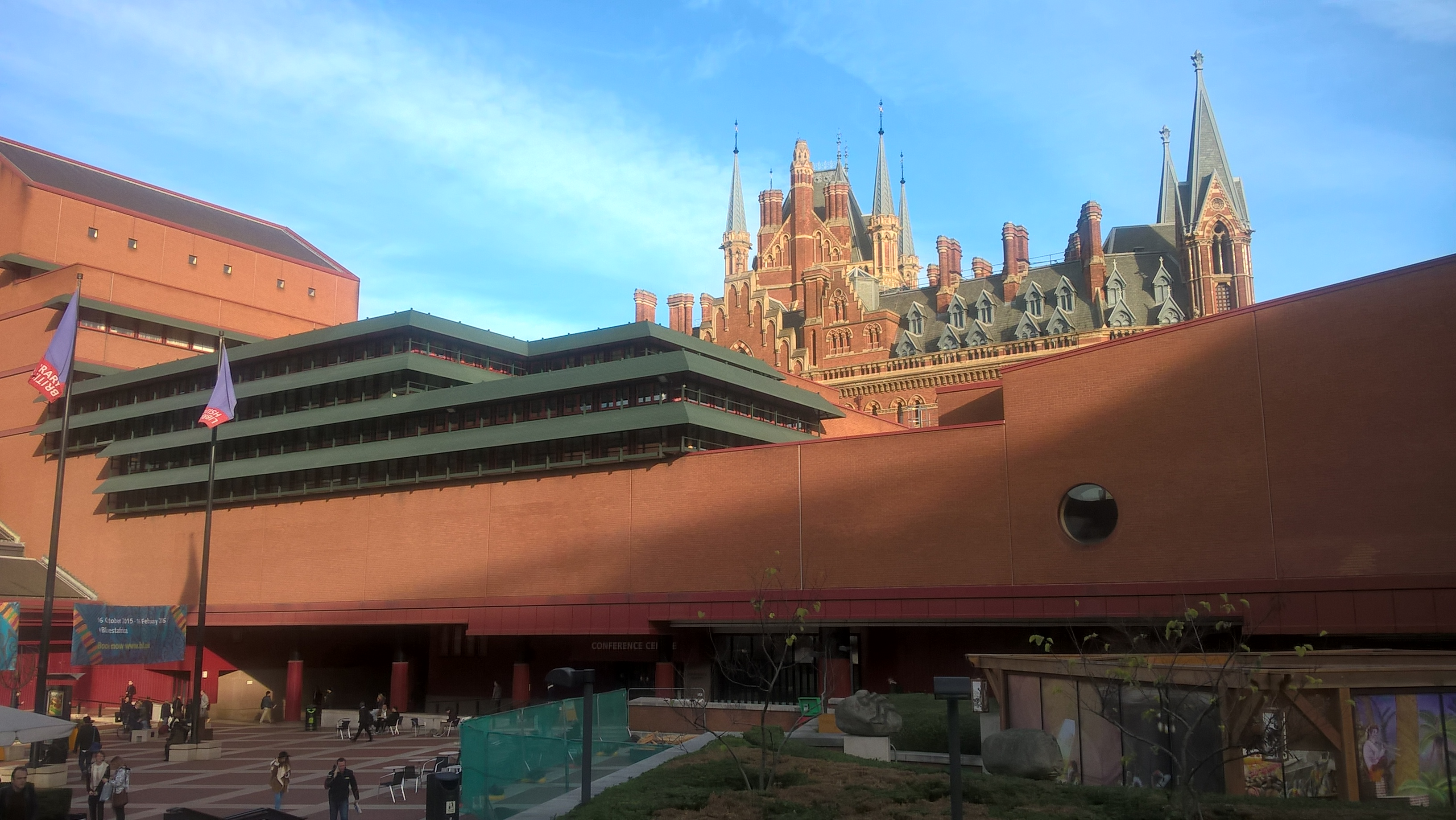The British Library (foreground). St.Pancreas Railway Station and Hotel (background) They don't build public buildings like they used to.