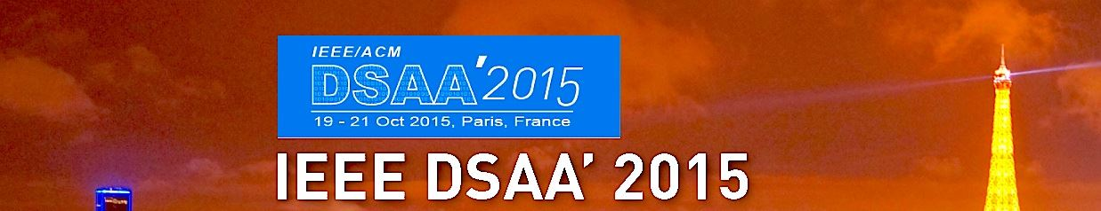 IEEE Data Science and Advanced Analytics (DSAA') 2015